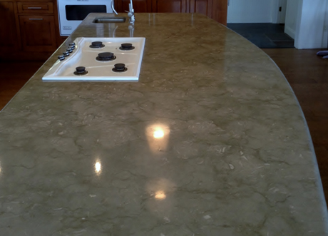 polished marble counter