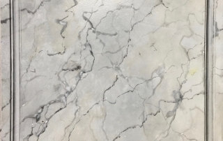 Faux White Carrera and Trompe L'ieol Marble