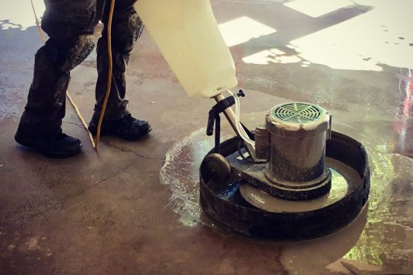 Concrete Garage Floor Polishing