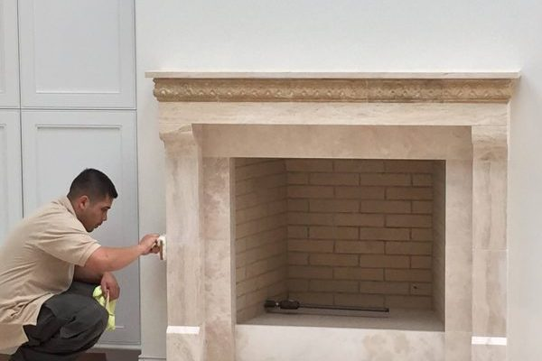 Marble Fireplace w: victor