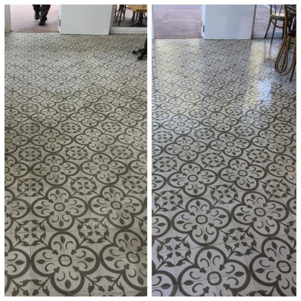 Pattern Tile before and after