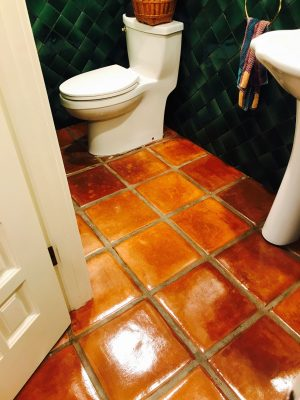 Saltillo Tile Bathroom