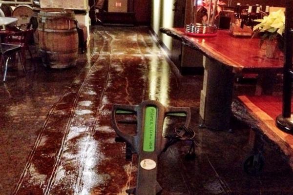 Winery floor remediation
